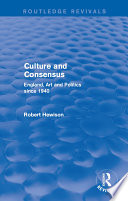 Culture and Consensus  Routledge Revivals