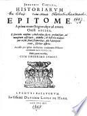 Johannis Cluveri, Historiarum totius mundi epitome, à prima rerum origine usque ad annum Christi MDCXXX ... Accessit per ipsum authorem continuatio historiæ ad annum MDCXXXIII. Editio quarta correctior, etc
