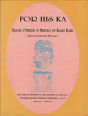 For His Ka : professor in the oriental institute for over twenty...