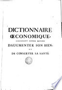 Dictionnaire oeconomique