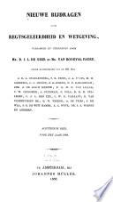 Nieuwe bijdragen voor rechtsgeleerdheid en wetgeving