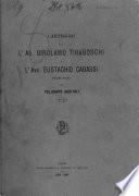 Carteggio fra L'Ab. Girolamo Tiraboschi e L'Avv. Eustachio Cabassi