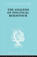 The Analysis of Political Behaviour