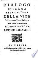 Dialogo intorno alla cultura della vite di Francesco Folli da Poppi ..