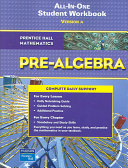 Pre-Algebra All-In-One Student Workbook: Version A