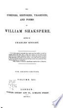The Comedies  Histories  Tragedies  and Poems of William Shakspere  Poems  Ascribed plays  Indexes