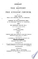 A Summary of the History of the English Church  and of the Sects which Have Departed from Its Communion