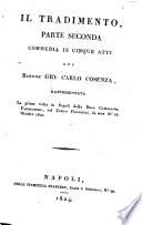 Teatro comico italiano  Il tradimento  pts  1 2  1824  Un traviamento di ragione  1824  La fuoruscita  1825