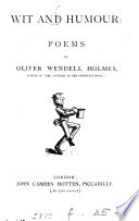 Wit and humour  poems  with an intr   by J C  Hotten