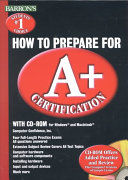 Barron s how to Prepare for A  Certification