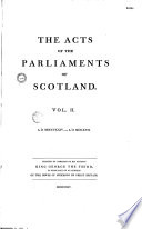 The Acts of the Parliaments of Scotland
