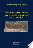S  ptimo centenario de los estudios orientales en Salamanca