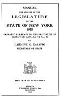 Manual For The Use Of The Legislature Of The State Of New York