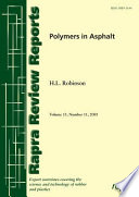 Polymers In Asphalt book