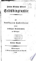 Johann Stephan Pütters Selbstbiographie