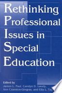 Rethinking Professional Issues in Special Education