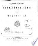 Königlich-baierisches Intelligenzblatt für den Regen-Kreis