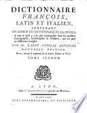 Dictionnaire Italien, Latin Et François