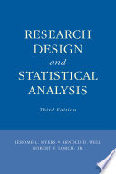 Research Design and Statistical Analysis
