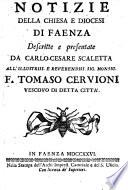 Notizie della chiesa e diocesi di Faenza  etc