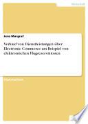 Verkauf von Dienstleistungen über Electronic Commerce am Beispiel von elektronischen Flugreservationen