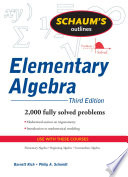 Schaum s Outline of Elementary Algebra
