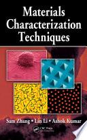 Materials Characterization Techniques