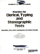 Practice for clerical  typing  and stenographic tests for federal  state  county  and municipal civil service positions