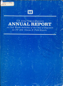 Annual Report Of The Chief Of Engineers On Civil Works Activities
