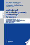 Applications of Declarative Programming and Knowledge Management