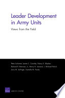 Leader Development in Army Units