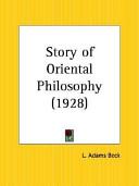 Story of Oriental Philosophy 1928