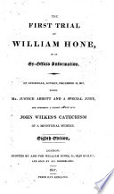 The First Trial of William Hone  on an Ex officio Information