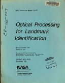 Optical Processing for Landmark Identification