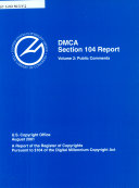 DMCA, Section 104 Report, A Report Of The Register Of Copyrights Etc., Volume 2, August 2001 : ...
