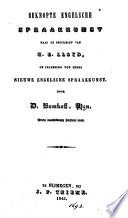 Beknopte Engelsche Spraakkunst Naar De Beginselen Van H E Lloyd Of Inleiding Tot Diens Nieuwe Engelsche Spraakkunst 3e Herziene Druk