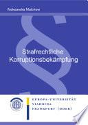 Strafrechtliche Korruptionsbek  mpfung