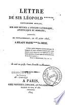 Lettre de Sir L  opold    Gentilhomme anglais  sur son retour    l Eglise catholique  apostolique et Romaine  adress  e de Fontainebleau le 16 ao  t 1823     Milady Marie    sa m  re