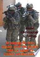 download ebook in order to win, learn how to fight: the us army in urban operations pdf epub