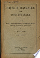 Course Of Translation From Dutch Into English