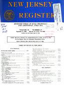New Jersey Register