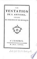 La tentation de S  Antoine  orn  e de figures et de musique