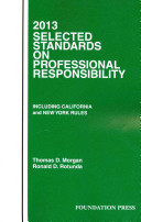 2013 Selected Standards on Professional Responsibility