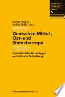 Mehrsprachigkeit in Mittel-, Ost- und Südosteuropa