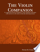 The Violin Companion Students Of All Ages With Answers To