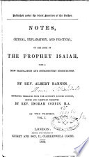 Ebook Notes, Critical, Explanatory and Practical, on the Book of the Prophet Isaiah Epub N.A Apps Read Mobile