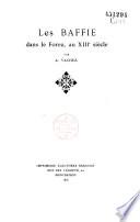 Les Baffie dans le Forez au XIII   si  cle