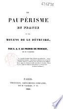 Du paup  risme en France et des moyens de le d  truire
