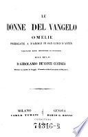Le Donne Del Vangelo Omelie Predicate A Parigi In San Luigi D Antin