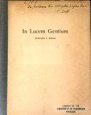In Lucem Gentium book